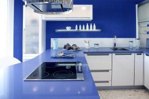 Blue White Kitchen Modern Interior Design