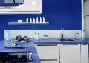 Blue White Kitchen Modern Interior Design Crop