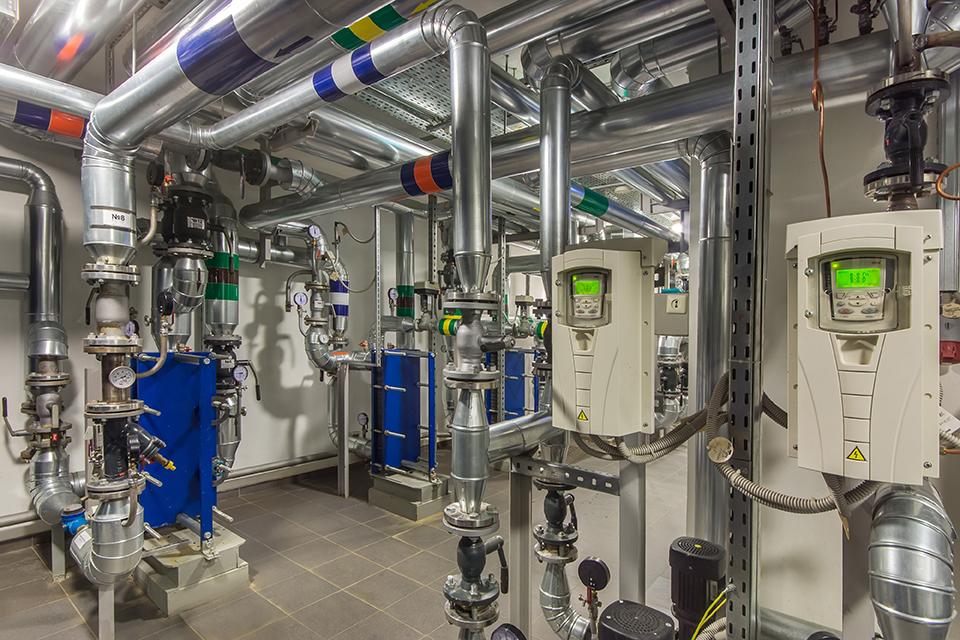 Modern Independent Heating System Boiler Room
