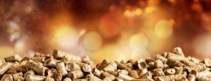 Pellets Biomass Close Up On Narrow