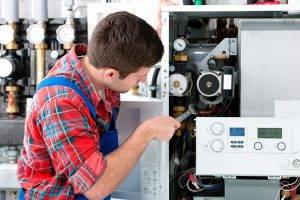 Servicing Gas Boiler Hot Water Heating