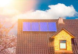Solar Thermal System On A Family House